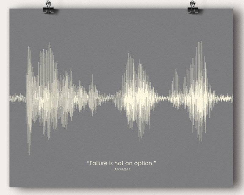 Apollo 13 Movie Quote - Artsy Voiceprint