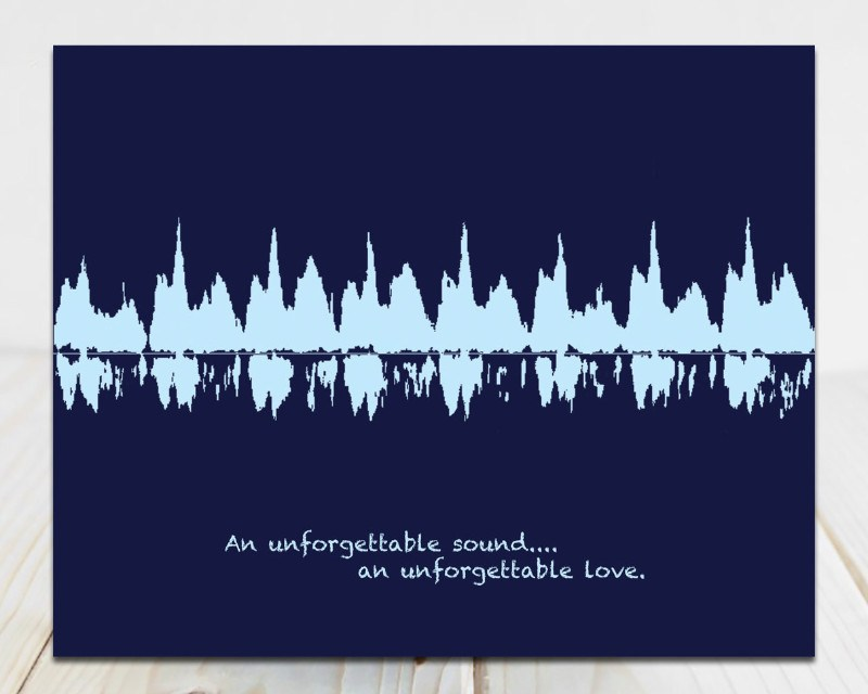 Gift Certificate - Baby Heartbeat Sound Wave Art - Artsy Voiceprint - 5