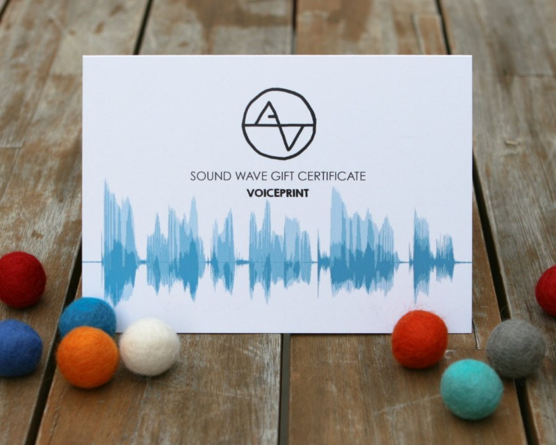 Gift Certificate - Personalized Voiceprint Sound Wave Art - Artsy Voiceprint - 1