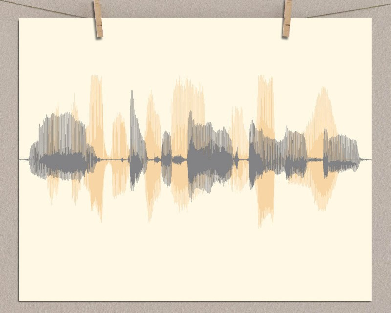 Multiple Sound Wave Paper Print - Create a Custom Gift