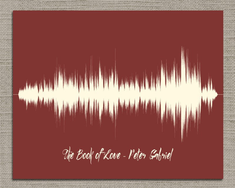 Song Lyric Sound Wave Art - Any Song, Wedding Gift - Artsy Voiceprint
