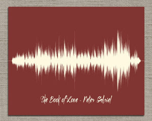 Song Lyric Sound Wave Art - Any Song, Wedding Gift