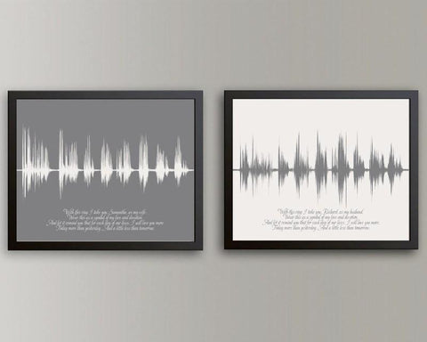 Anniversary Gift Ideas Voiceprint Wedding Vow Song