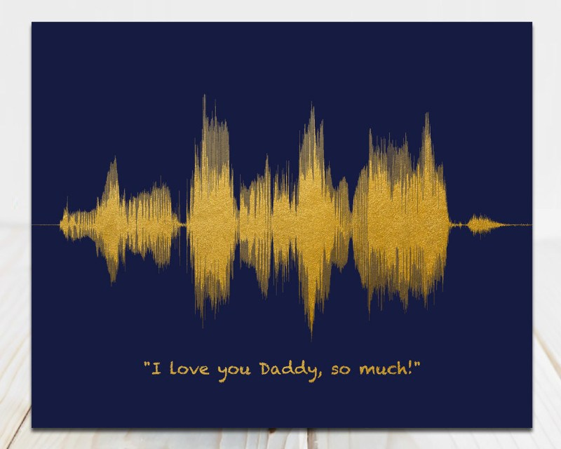Custom Voiceprint for Dad, Birthday Gift - I love you Daddy - Artsy Voiceprint