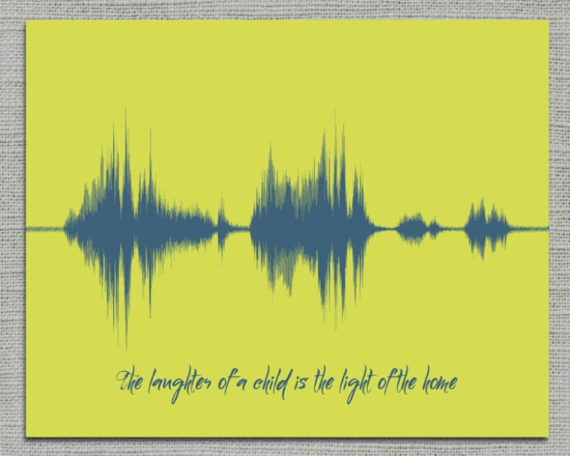 First Giggle, Laugh, Words, Dada - Gift from Baby, Baby Nursery Print - Artsy Voiceprint