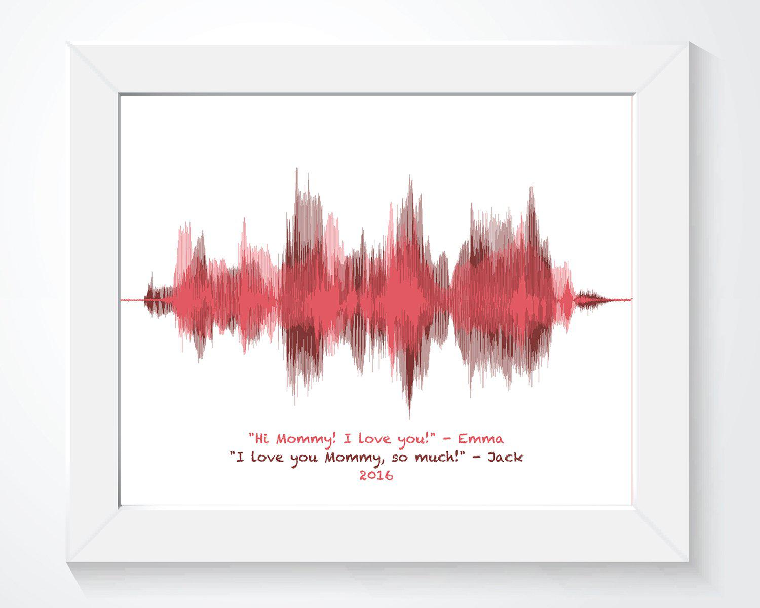 Gift for Mom from Daughter, Gift for Mom from Son - Artsy Voiceprint