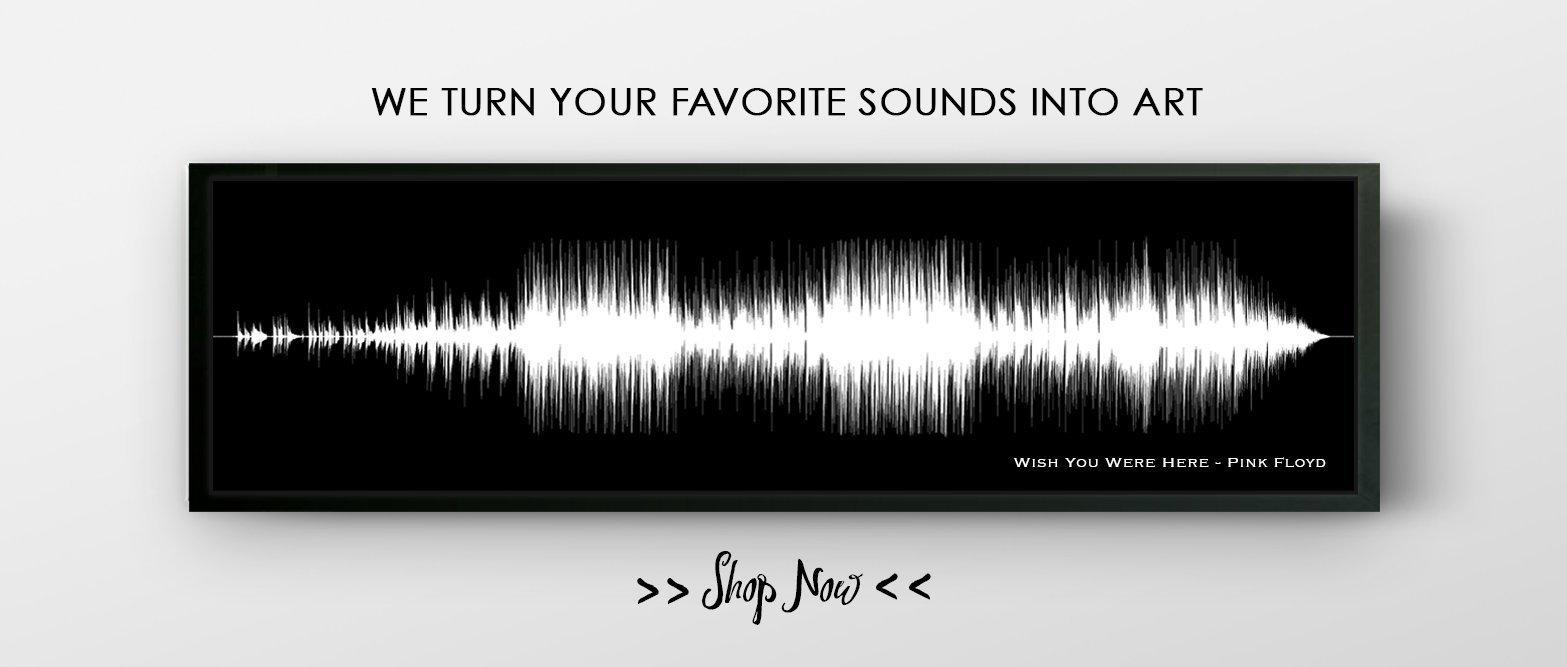 Song Lyric Sound Wave Art