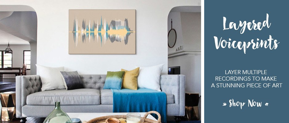 Multiple Layered Voiceprint on Canvas - Custom Sound Wave Art