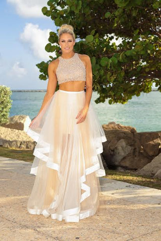 2e680b4fe490 This Terani Couture two-piece gown was heaven sent for her dreamy,  romantic, enchanting evening!