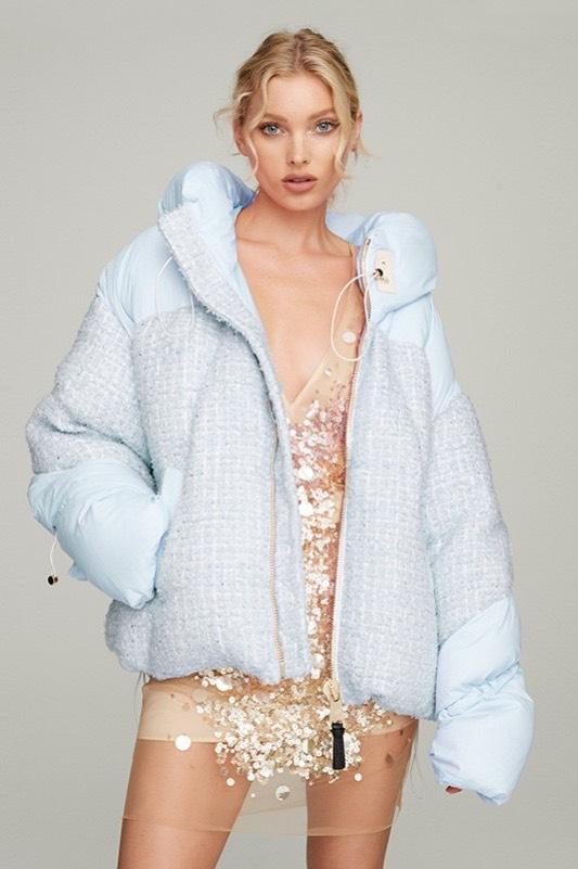 Nicole Benisti Matignon Tweed Powder Blue Jacket