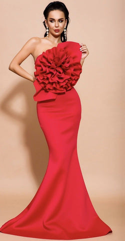 Jessica Bara Kadence Flower Bodycon Gown