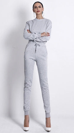 Jessica Bara Melody Sweatshirt and Jogger Two Piece Set