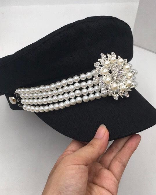 Jessica Bara Cleo Pearl Flower Conductor Hat