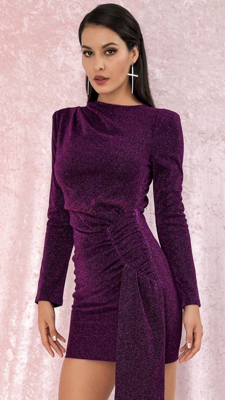 Jessica Bara Milena Long Sleeve Mini Dress