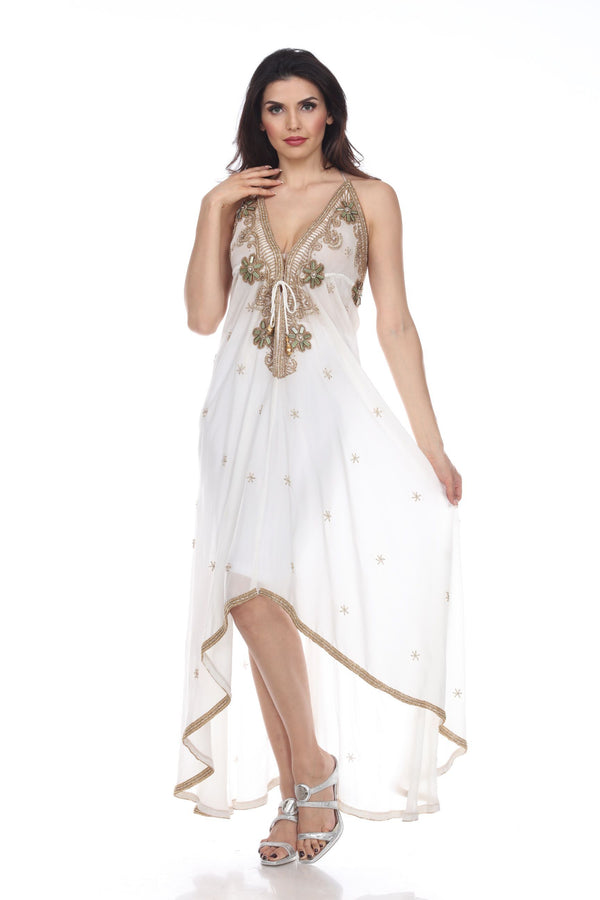 Kareena Halter Neck Embellished Maxi Dress
