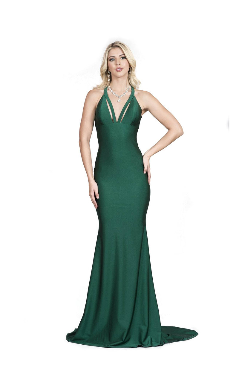 Atria Criss Cross Back Bodycon Gown