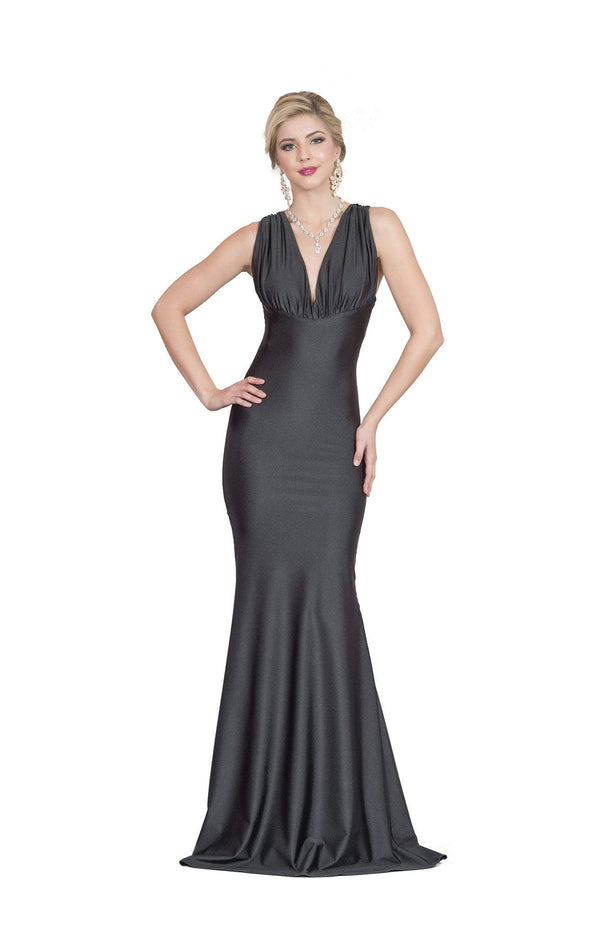 Atria Criss Cross Back Ruched Gown