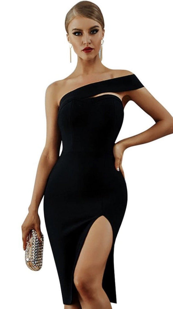 Jessica Bara Spencer One Shoulder Bandage Dress