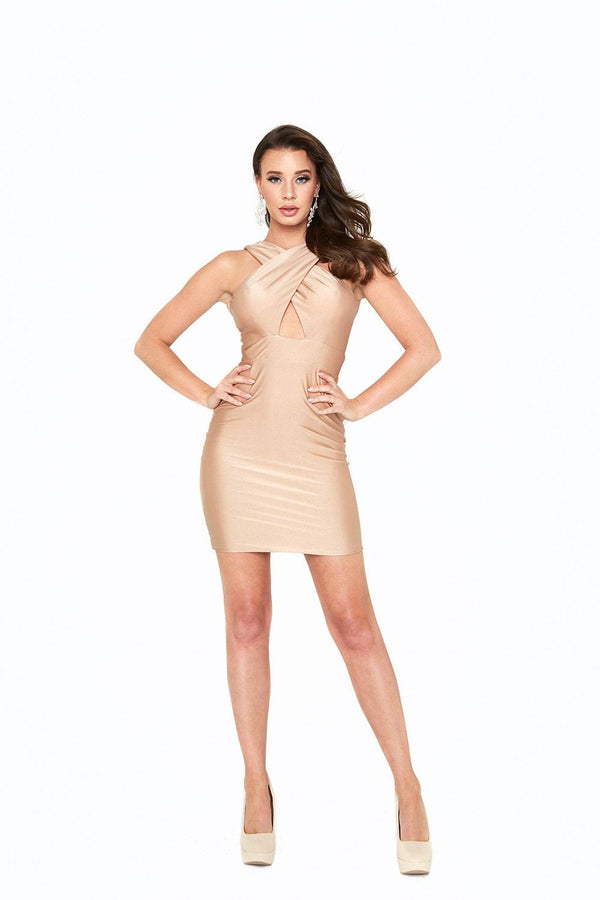 Atria Cut-Out Backless Bodycon Mini Dress
