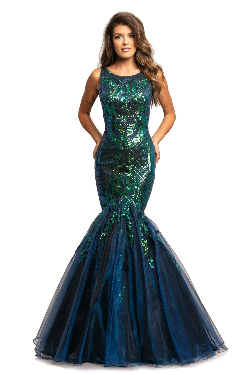 Johnathan Kayne Sequin Embellished Gown