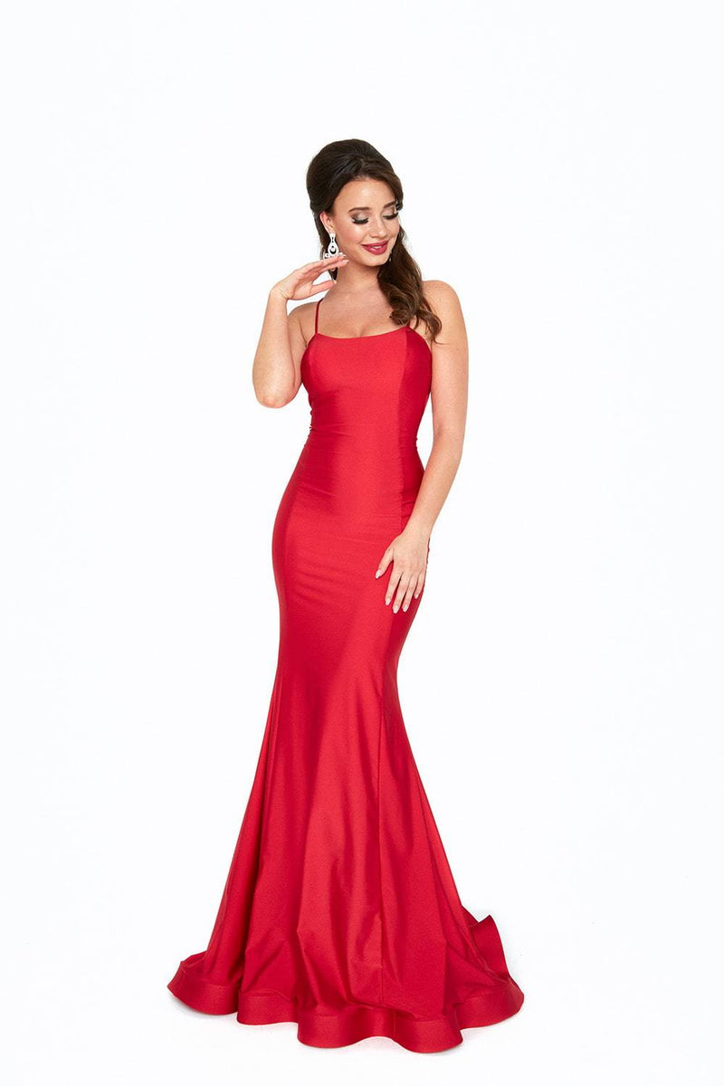 Atria Strappy Back Bodycon Gown