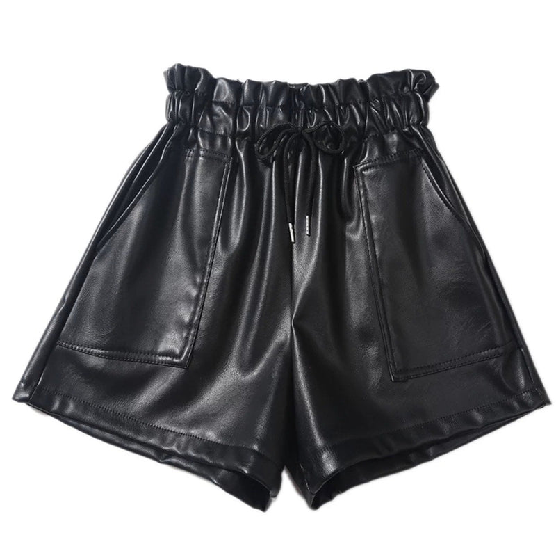 Jessica Bara Aubrielle High Waisted Leather Shorts