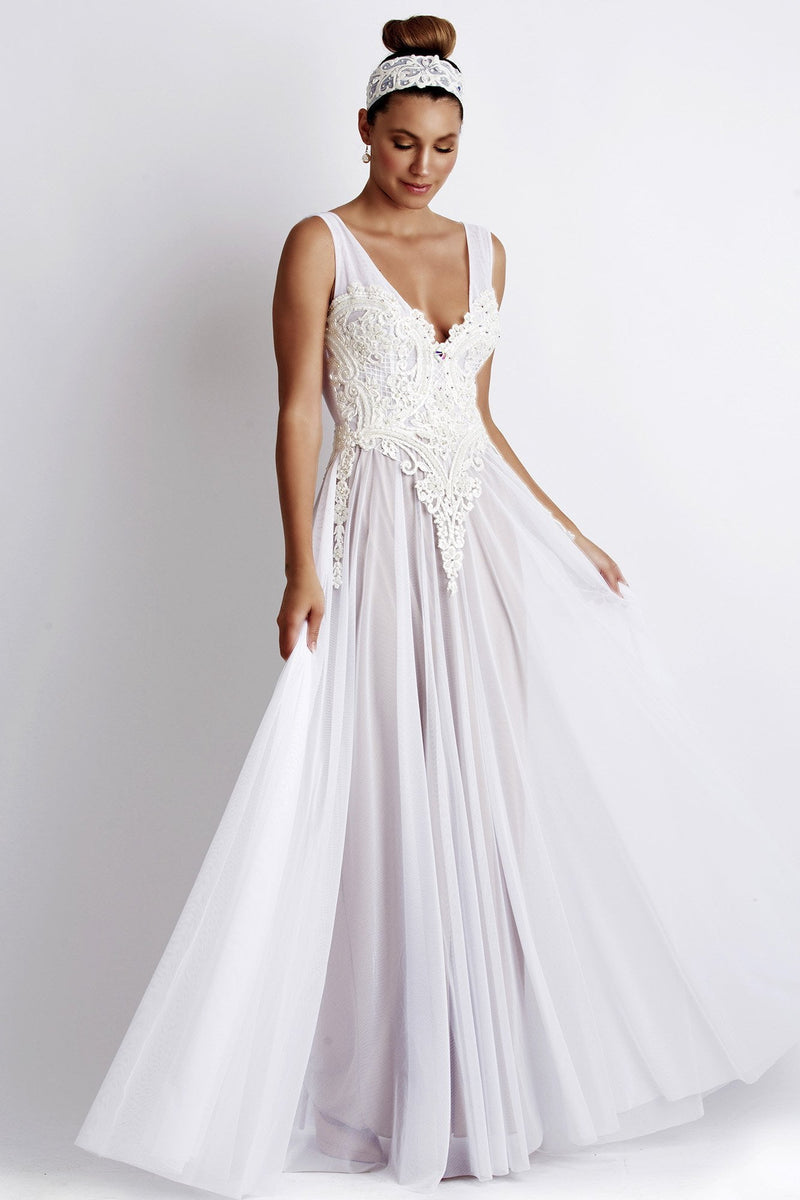 Baccio Princess Caviar Long Dress