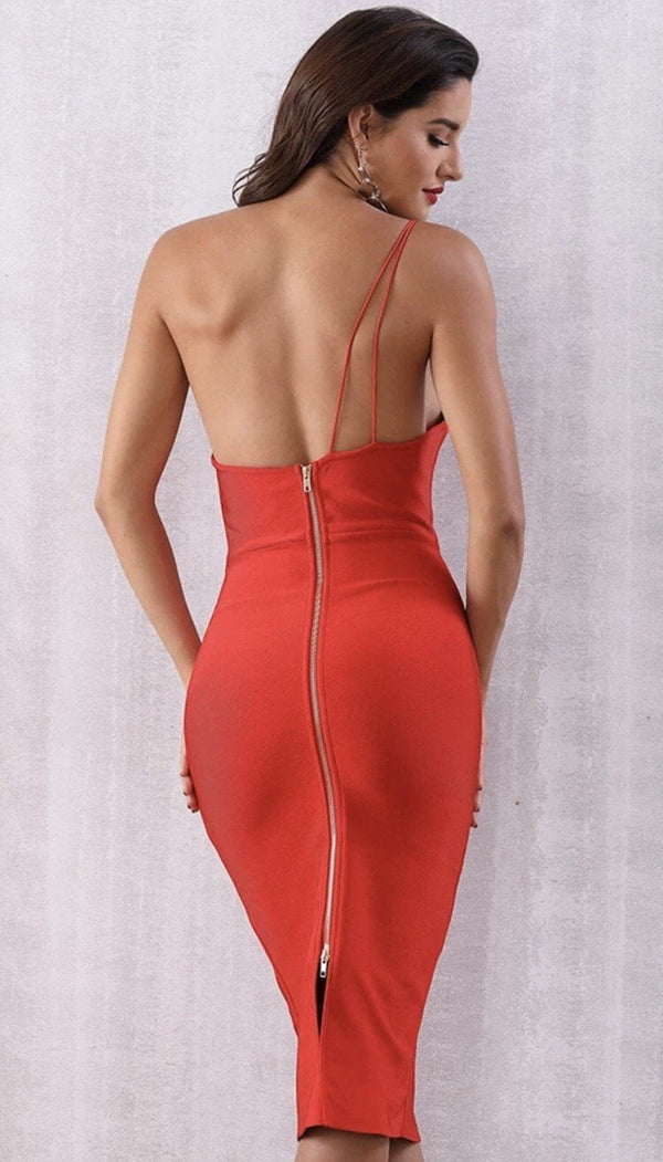 Jessica Bara Austyn Strapless Bodycon Midi Dress