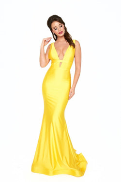 Atria V Neck Bodycon Gown