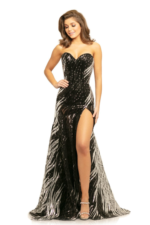 Johnathan Kayne Sequin Sweetheart Gown