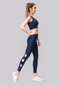 Active Fit Aligned Silver Stars Legging