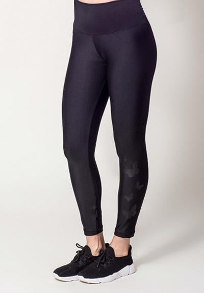 Active Fit Black Butterflies Legging
