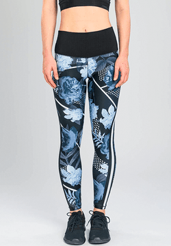 Active Fit Floral Black and White Legging
