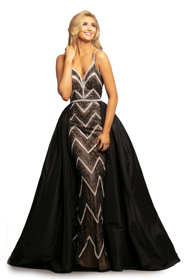 Johnathan Kayne Embellished Gown With Overskirt