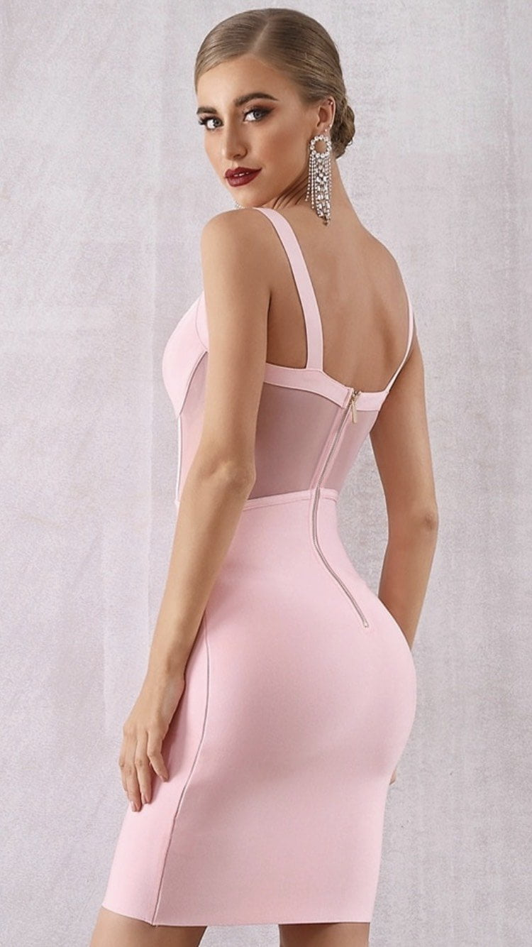Jessica Bara Dubai Bandage Bodycon Midi Dress