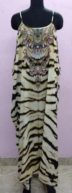 Shahida Parides Animal Print Spaghetti Strap Maxi Dress