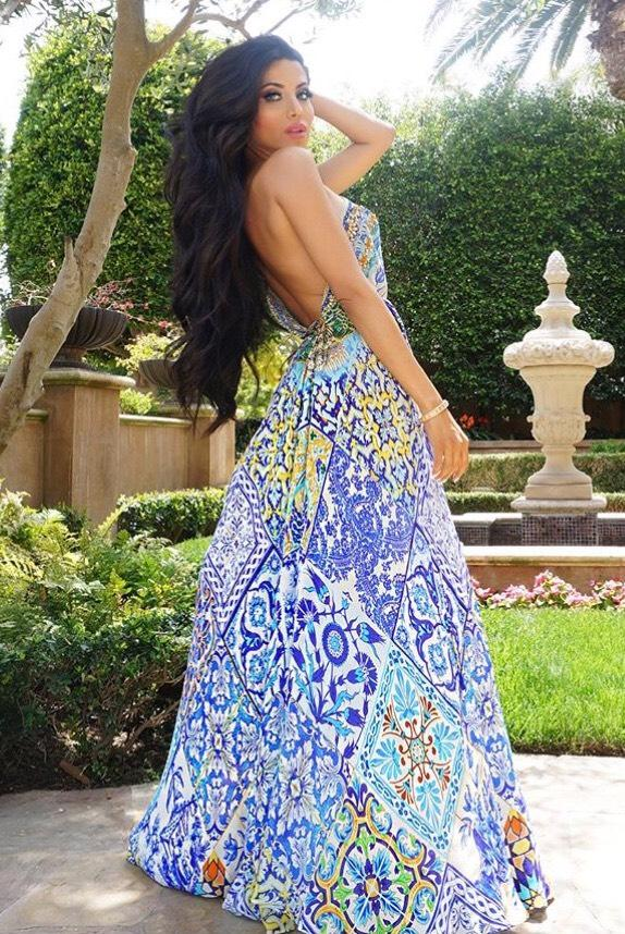 Shahida Parides Sheikia Azure Three Way Dress