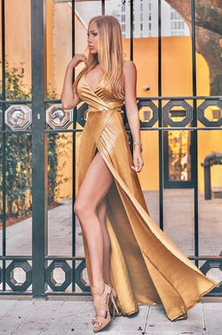 Cioccolato Eliza Gold Maxi Dress