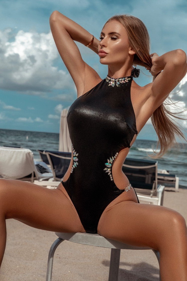 Jessica Bara Libby One Piece Swim Suit