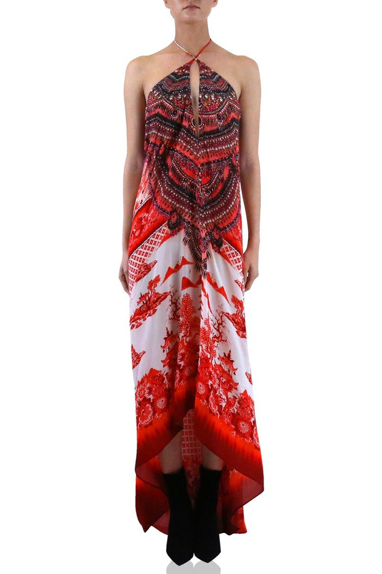 Shahida Parides  3 Ways to Wear Porcelain Print Maxi Dress