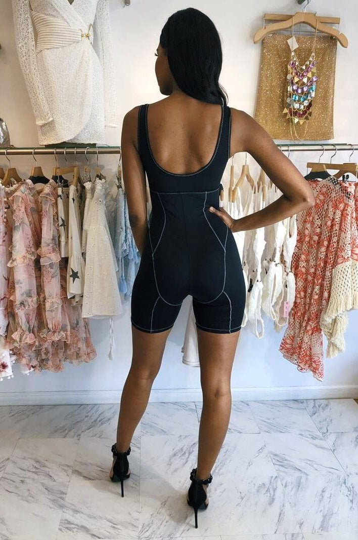 Jessica Bara Famous Knit Cut Out Romper