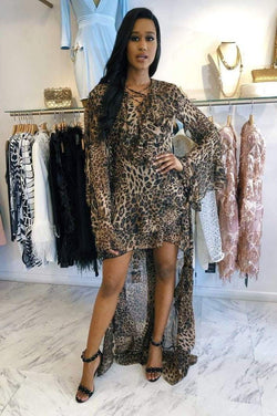 Sale Jessica Bara Bebe Leopard Maxi Dress