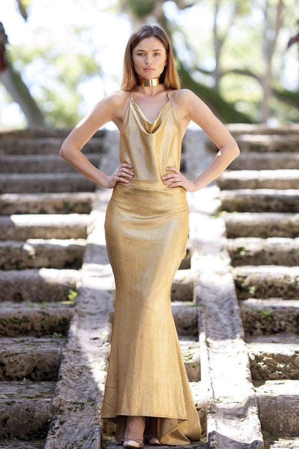 Cioccolato Allise Gold Sexy Gown
