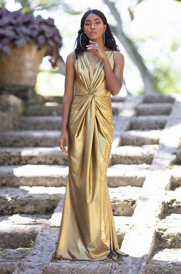 Cioccolato Goddess Gold Sexy Gown
