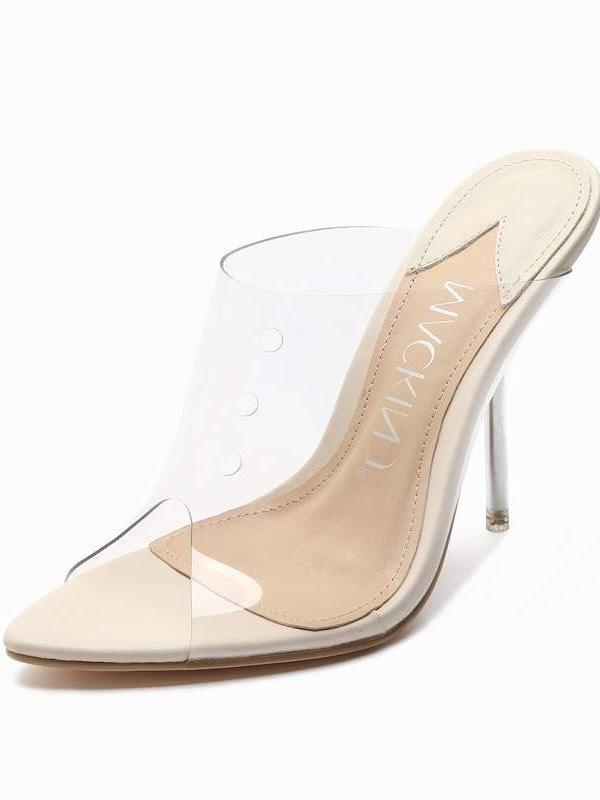 Carrson Clear Nude Heels