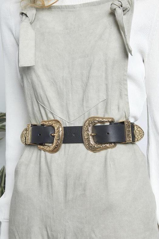 B-Low The Belt Bri Bri Gunmetal Buckle Belt