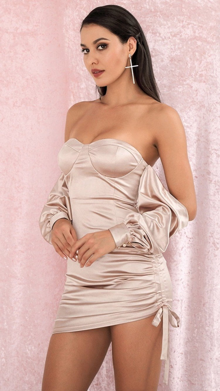 Jessica Bara Keyla Off the Shoulder Mini Dress