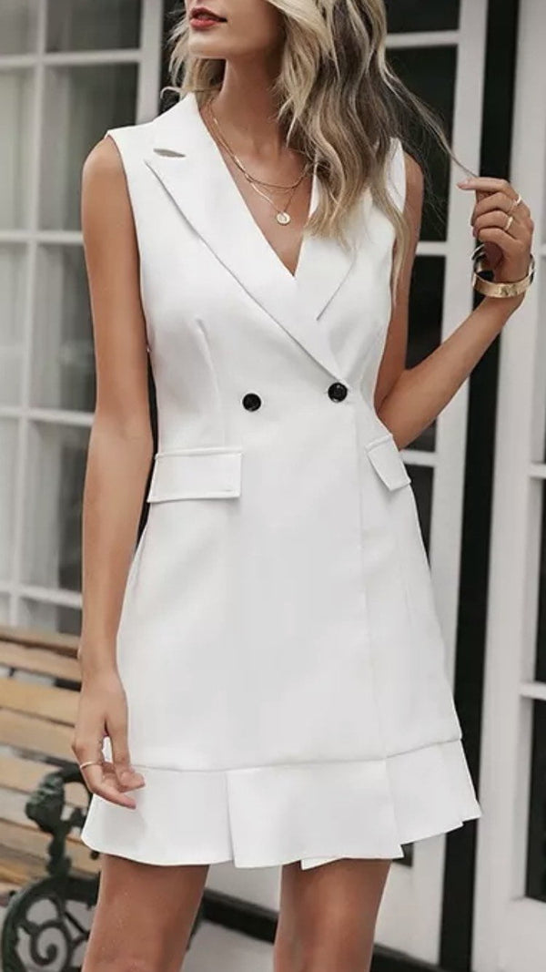 Jessica Bara Keira Sleeveless Blazer Dress