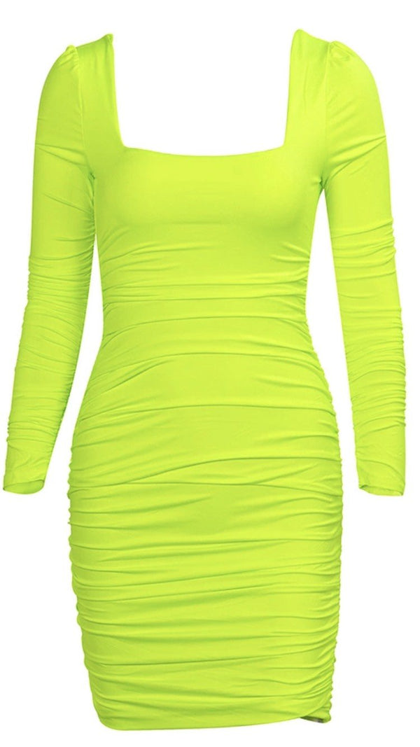 Jessica Bara Leanna Bodycon Ruched Mini Dress