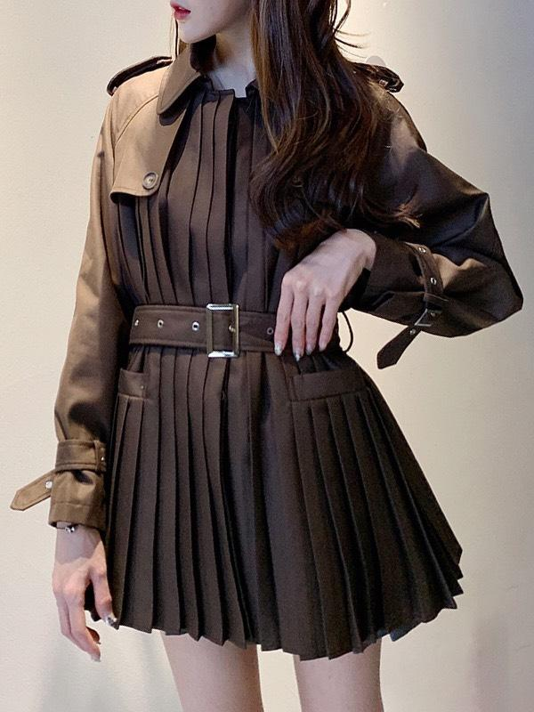 Jessica Bara Carly Long Sleeve Trench Dress